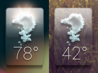 Glass Weather Dribbble 02