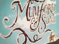 Mumford and Sons Type Poster