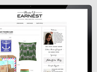 House of Earnest - Final blog design