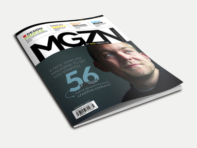 Magazine Template - InDesign 56 Page Layout V1