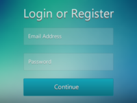 Login or Register (Rebound)