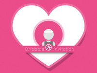 Dribbble Invite | Valentines Day