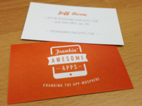 Freakin' Awesome Apps Business Card