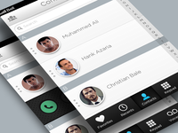 Phone App All Contacts UI
