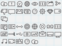 Icon set I'm working on