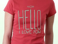 Hello, I Love You Shirt