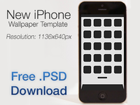 iPhone 5 Wallpaper Template (+ Free .PSD Download)