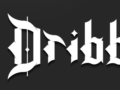 Blackletter (Dribbble)