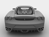 Ferrari F430 3D grey Shade render
