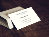 Valenti Enterprises Business Cards