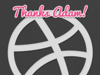Dribbble Debut - Thanks Adam!