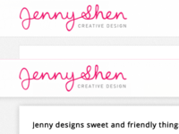 CSS for Jenny Shen Creative Design