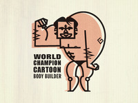 World Champ Cartoon Body Builder
