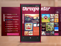 Threepointer - unofficial dribbble windows phone app