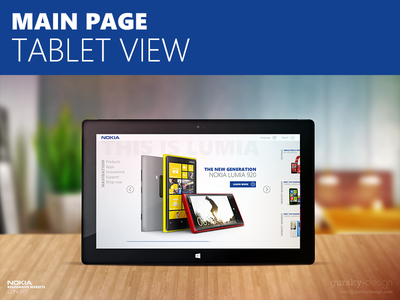 Nokia responsive website concept - tablet