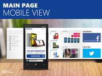 Nokia responsive website concept - mobile