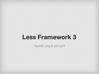 Less Framework Design Grid