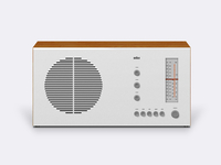 BRAUN RT20 Tube radio