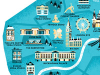 London Yoga Map