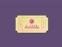 Dribbble ticket (PSD)