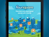 Foursquare Login Screen