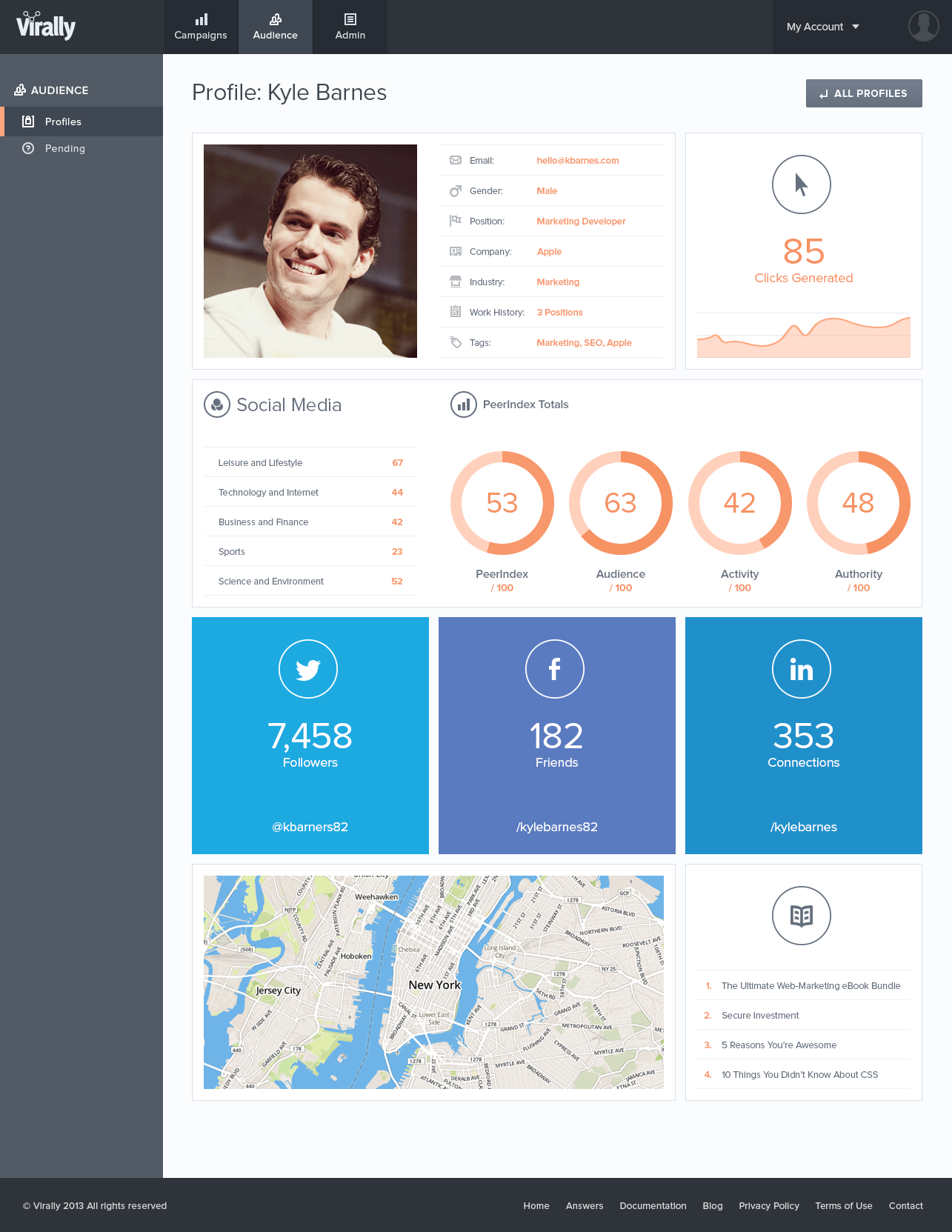 one page profile templates