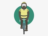 Sasquatch Cyclist