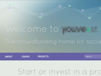 Layout for crowdfunding website
