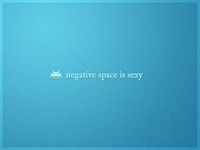 Space Invader loves negative space