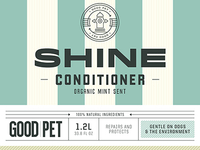 Pet conditioner label