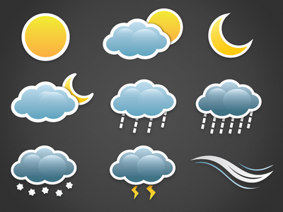Sticker weather icons