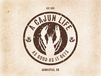 A Cajun Life Food Cart Logo