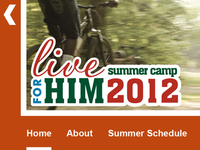 Live For Him Summer Camp 2012