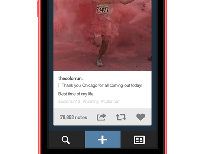 Download Tumblr app home concept