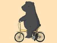 Another bear on a bike