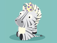 Birthday Zebra