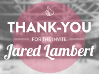 Thank you Jared