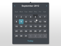 Date Picker dark