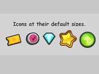 Chunky Game Currency Icons