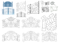 Logo — Metal Gates (Sketches 2)