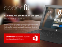 BodeeFit App Windows 8 Landing Page