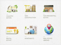 Icons for real estate agencies.