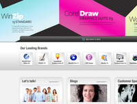 Corel Website Redesign