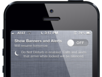 Show Banners and Alerts vs. Do Not Disturb (iOS)