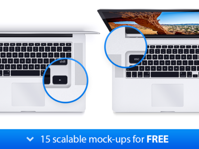 Download MacBook Pro 15 Scalable Mock-ups
