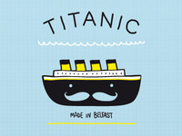 Titanic made in Belfast t-shirt graphic