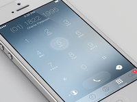 iOS7 Keypad Redesign