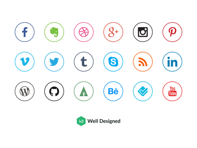 Download 20 Social Media Icons