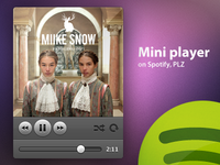 Mini player for Spotify
