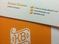 Letterpress - KB Designs Business Card